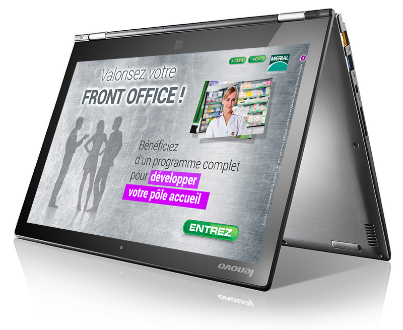 Application PC tactile - argumentaire de vente Front Office