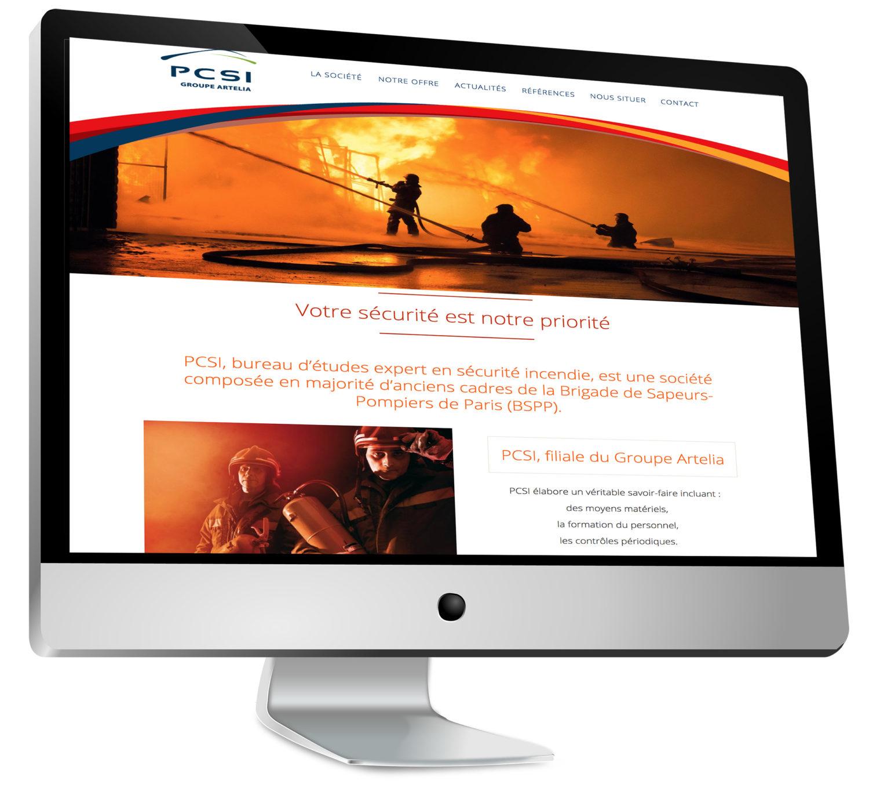 Nouveau site web pour PCSI, bureau d'études expert en sécurité incendie