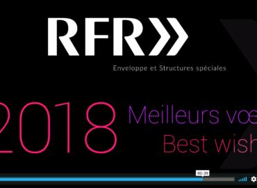 """Création de la carte de vœux vidéo """"RFR >>"""" (Cabinet d'architectes)"""