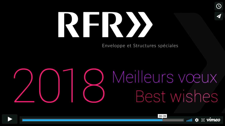 Création de la carte de vœux vidéo «RFR >>» (Cabinet d'architectes)