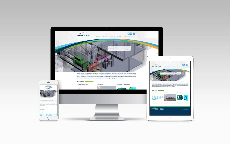 Un nouveau site web pour SPRETEC
