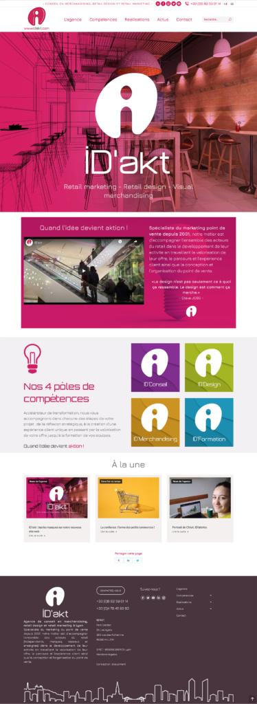 Refonte site web idakt.com