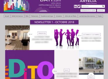 Case study : newsletters pour Artelia Bâtiment et Industrie