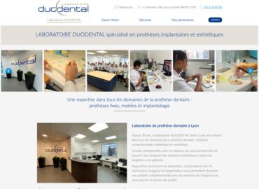 Nouveau site web pour le LABORATOIRE DUODENTAL spécialisé en prothèses implantaires et esthétiques