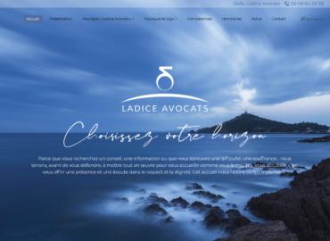 """Site web pour le cabinet d'avocats """"Ladice Avocats"""" à Dijon"""