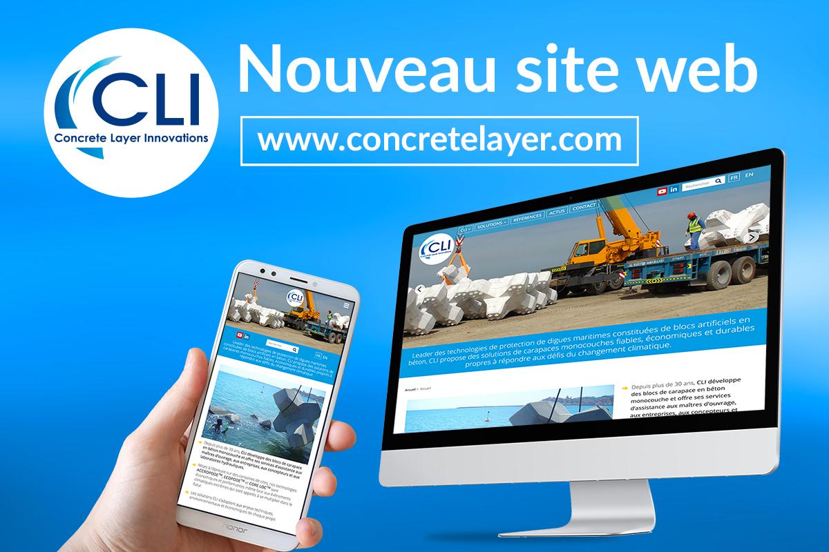 Nouveau site web pour CLI (Concrete Layer Innovations)