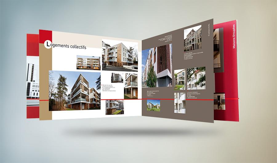 Plaquette 16 pages pour Floriot Habitat : références logements collectifs