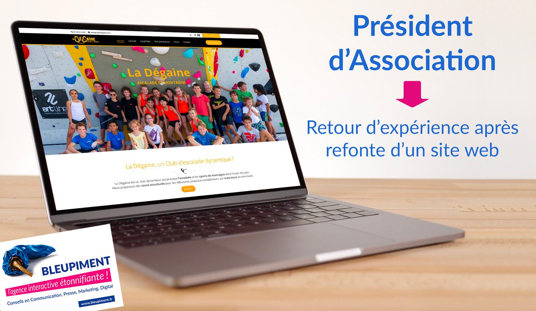 Nouveau site web pour une association sportive : stratégie et retour d'expérience pour la refonte globale du site web LA DÉGAINE
