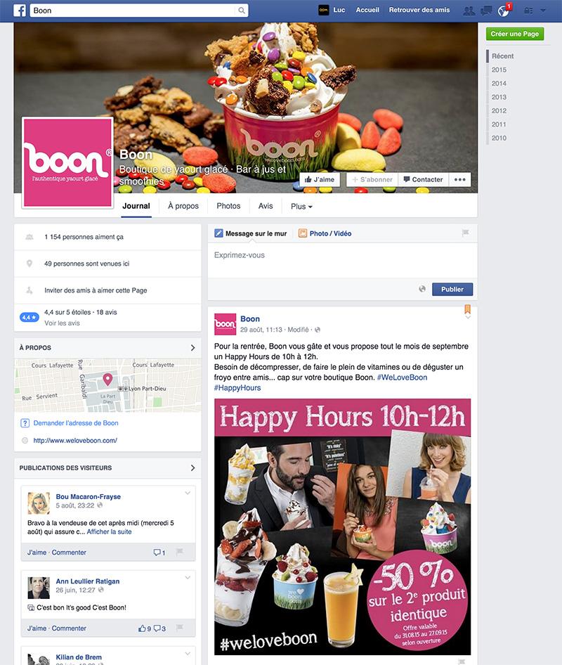 page Facebook weloveboon.com