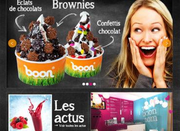 Création du site web weloveboon.com boutique de yaourt glacé