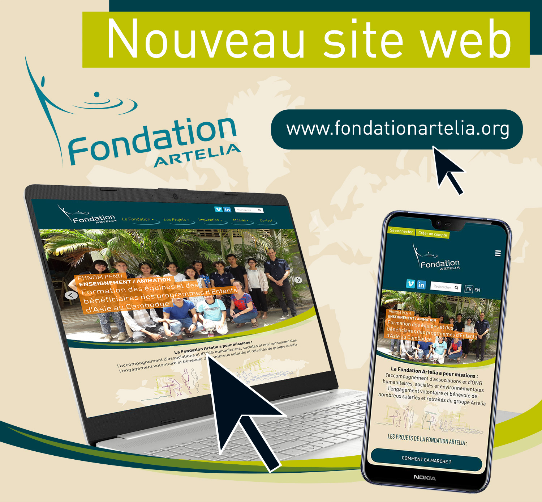 Fondation Artelia : nouveau site web