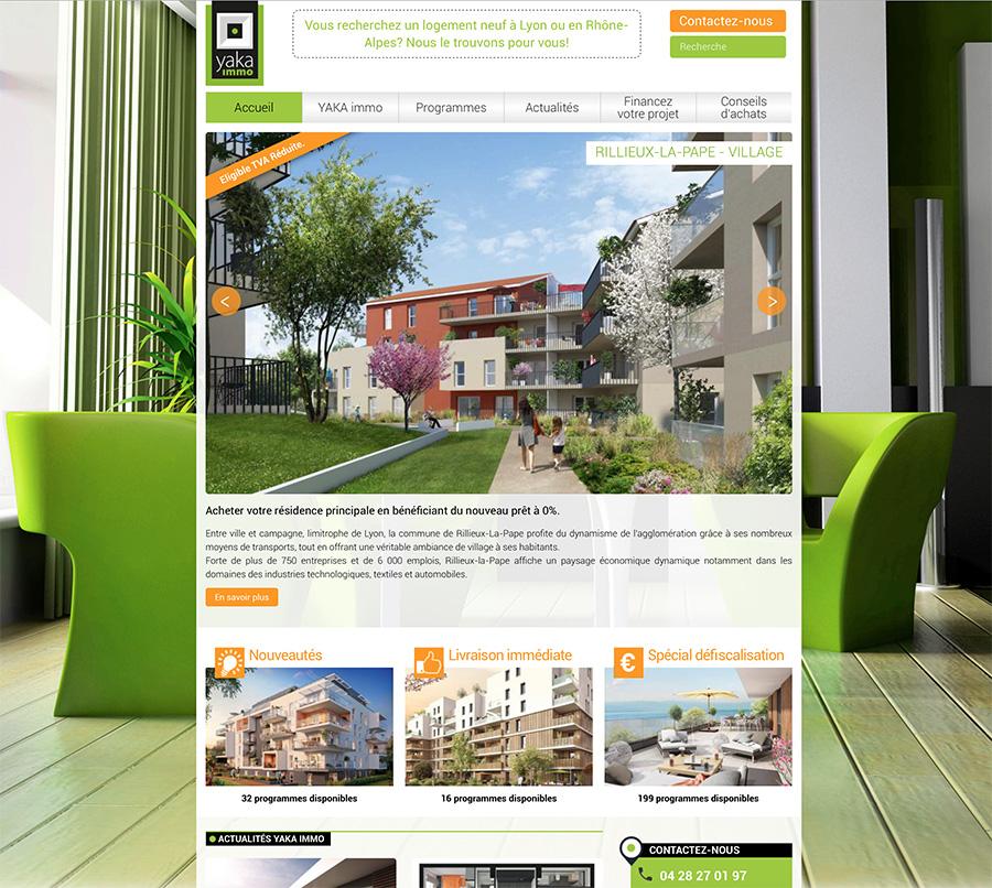 Site web YAKA immo : trouver un programme immobilier neuf à Lyon en 2 clics