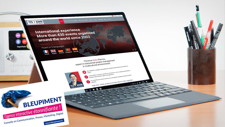 Organisation d'événements à l'international : un site web qui valorise l'expérience de Florence Kahn-Ramos
